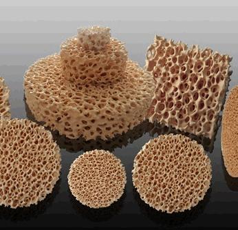 Ceramic foam filter Filtration principle