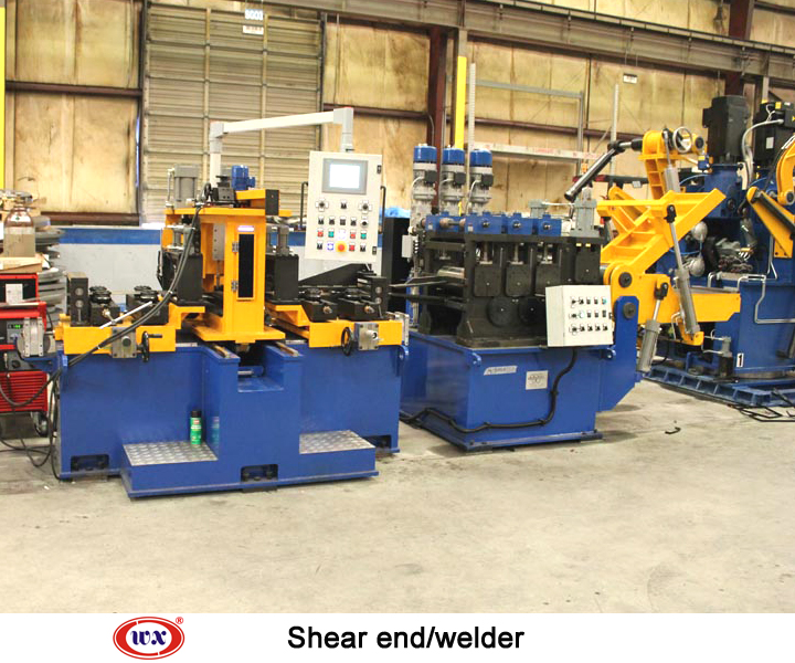 Shear end welder